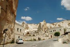 Cave-town in Cappadocia, Turkey Stock Photo