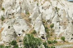 Cave-town in Cappadocia, Turkey Stock Photography