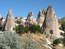 Cave town of Goreme in Turkey Royalty Free Stock Images