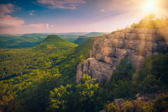 Cave towns valley Royalty Free Stock Photos