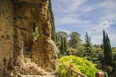 Cave troglodyte. Caves troglodytes Villecroze in Provence Royalty Free Stock Photo