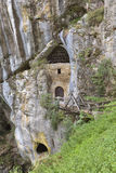 Cave under the castle Predjama in Slovenia Royalty Free Stock Images