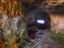 Cave under Sant Nicolau Castle in Ciutadella Royalty Free Stock Photos