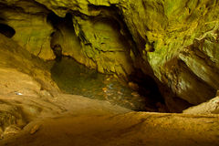 cave with an underground river Royalty Free Stock Photography