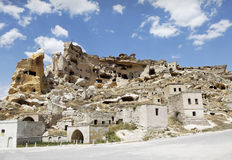 Cave village province of Goreme Turkey Royalty Free Stock Photos