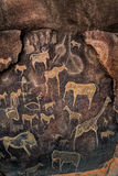 Cave Wall painting prehistoric Stock Photography