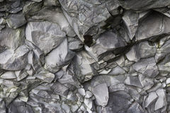 Cave Wall. Rock Wall in cave at black sand beach Royalty Free Stock Photos