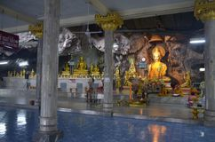 Cave of the Wat Tham Sua in Krabi. Cave of the Wat Tham Sua, or Tiger Cave Temple, in Krabi, Thailand. October 23, 2014 stock photo