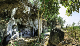 Cave of the Wat Thep Charoen near Chumphon, Thailand Stock Photo