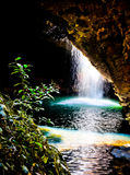 Cave Waterfall Stock Image