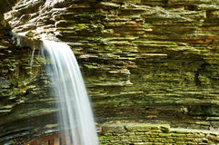 Cave waterfall at Watkins Glen state park Stock Images
