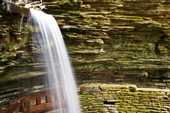 Cave waterfall at Watkins Glen state park Royalty Free Stock Photos