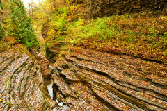 Cave waterfall at Watkins Glen state park Stock Photo