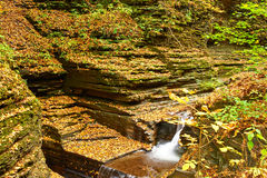 Cave waterfall at Watkins Glen state park Stock Image