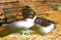 Cave waterfall at Watkins Glen state park Stock Photos