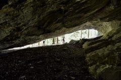 Cave window Stock Photo
