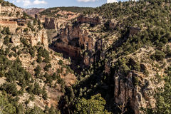 Cave of the winds road canyon views Stock Photo