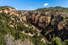 Cave of the winds road canyon views. Williams / waldo canyon are popular hiking and vacation areas in manitou and colorado springs. rock cliff canyon nature in Royalty Free Stock Images