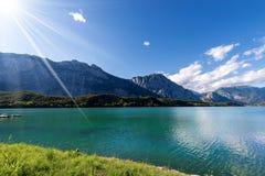 Cavedine Lake - Trentino Alto Adige Italy. Lago di Cavedine Cavedine Lake small alpine lake in Trentino Alto Adige, Italy, Europe stock image