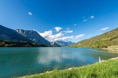 Cavedine Lake - Trentino Alto Adige Italy. Lago di Cavedine Cavedine Lake small alpine lake in Trentino Alto Adige, Italy, Europe royalty free stock photography