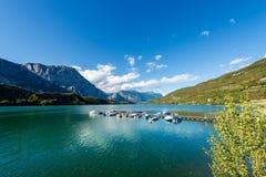 Cavedine Lake - Trentino Alto Adige Italy. Lago di Cavedine Cavedine Lake small alpine lake in Trentino Alto Adige, Italy, Europe royalty free stock photo