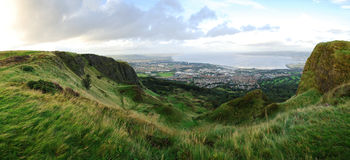 Cavehill, Belfast. It is a basaltic hill overlooking the city of Belfast in Northern Ireland Royalty Free Stock Photos