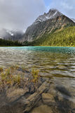 Cavell Lake Mount Edith Cavell Royalty Free Stock Image