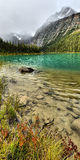 Cavell Lake Mount Edith Cavell Stock Photos