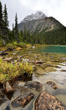 Cavell Lake Mount Edith Cavell Stock Photo
