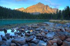 Cavell lake. Scenic morning Cavell lake near Jasper, Canada Royalty Free Stock Photography
