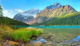 Cavell lake Royalty Free Stock Photo