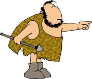 caveman κυνηγός Στοκ φωτογραφίες με δικαίωμα ελεύθερης χρήσης