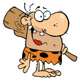 caveman λέσχη ευτυχής Στοκ Φωτογραφία