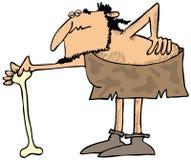 Caveman με μια κακή πλάτη Στοκ φωτογραφία με δικαίωμα ελεύθερης χρήσης
