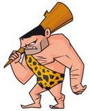 Caveman. Vector illustration of Cartoon Caveman Stock Images