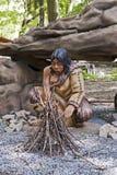caveman atrapa Zdjęcia Stock