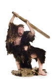 Caveman in bear skin Royalty Free Stock Photos