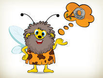 Caveman-Bee Stock Photo