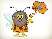 Caveman-Bee Stock Photo