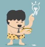 Caveman Business  Have Idea Stock Photo