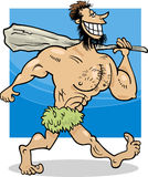 Caveman cartoon illustration Stock Photos