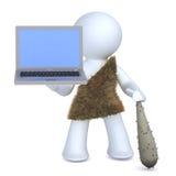 Caveman e tecnologia ilustração do vetor