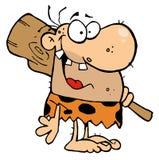 Caveman feliz com clube ilustração do vetor