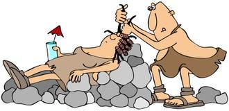 Caveman fryzjer Obrazy Royalty Free
