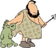 Caveman hunter stock illustration