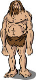 Caveman illustration Royalty Free Stock Photos
