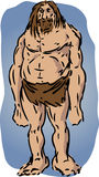 Caveman illustration Royalty Free Stock Images
