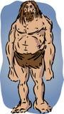 Caveman illustration. Sketch of brutish muscular primitive man Royalty Free Stock Images