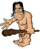 Caveman irritado ilustração royalty free
