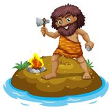 A caveman Royalty Free Stock Images